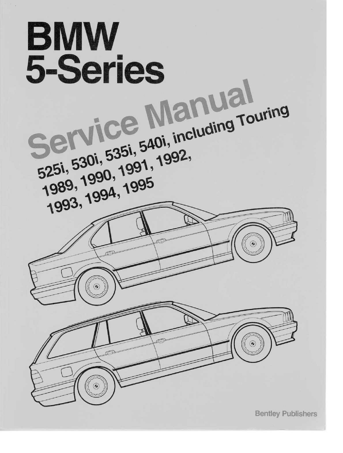 Bentley E34 Bmw Service Manual