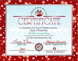 Santas Nice List Certificate Red Other Files