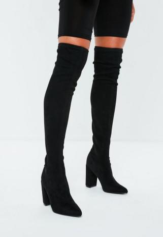 black-faux-suede-over-the-knee-boots