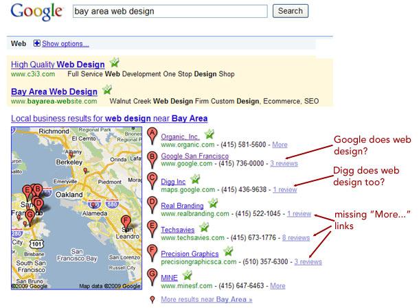 google broke local search