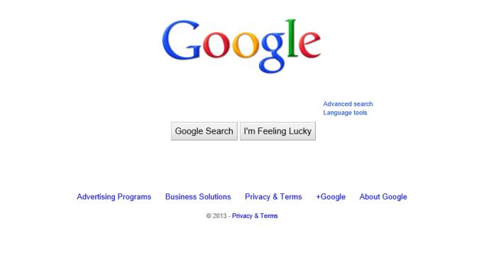 google seach box missing