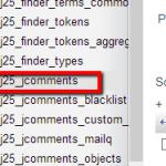 jcomment database table