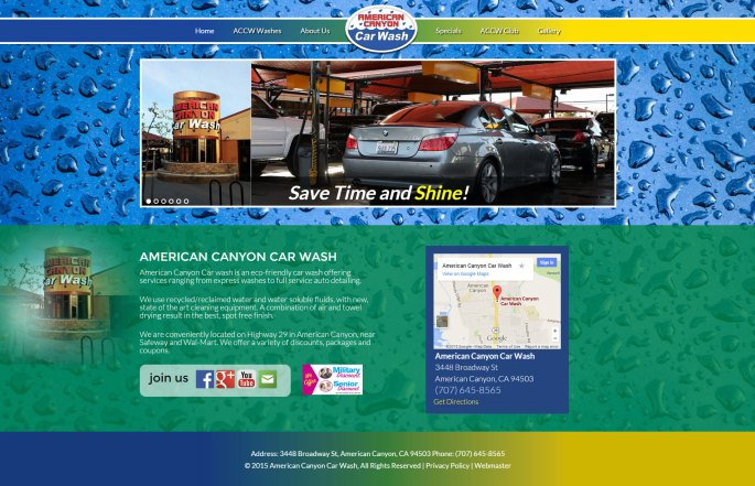 Bay Area Car Wash Web Design