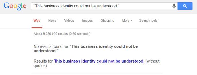 Google No Results