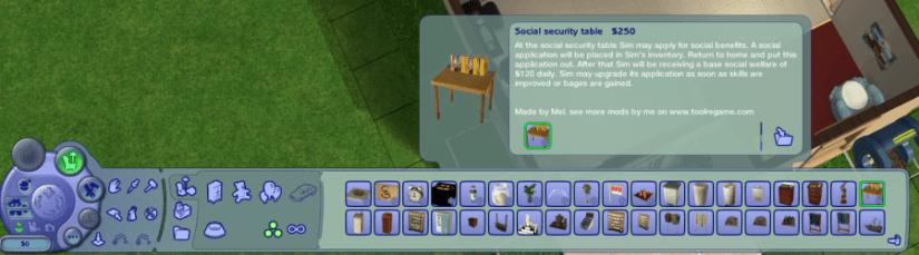 Sims 2 Mod - Social Welfare