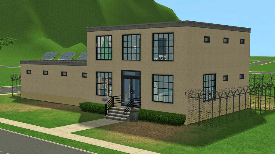 The Sims 2 Pleasantview Jail Residential Lot Download - Keep Your Criminals in Check with this Small Town Jail/Prison