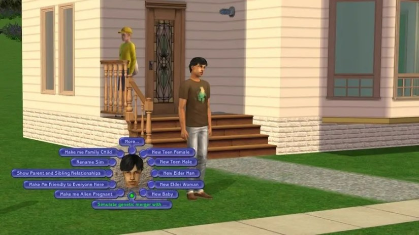 Sims 2 Tombstone of L and D - Simulate Genetic Merger