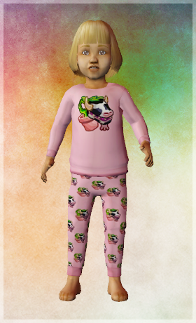The Sims 2 Toddler PJ CC