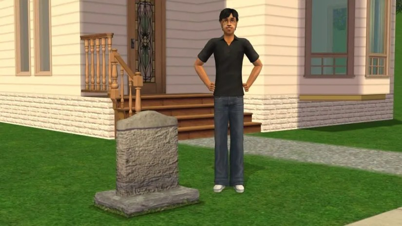 The Sims 2 Tombstone of Life and Death