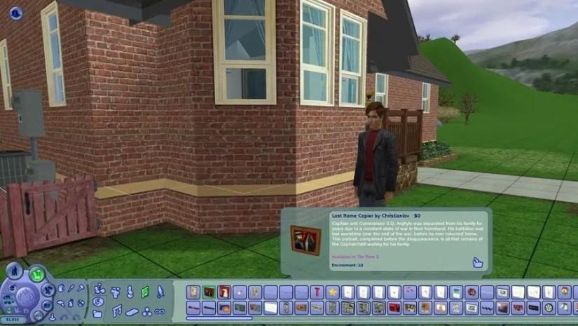 Sims 2 Last Name Copier