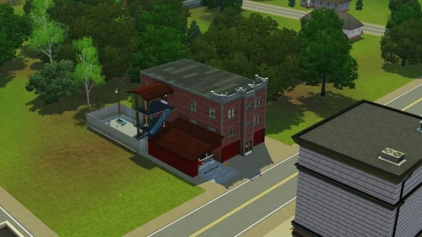 Fire Station in The Sims 3 Pleasantview