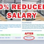 Sims 4 50% Reduced Salary Mod (Updated for Snowy Escape)