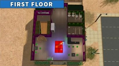 Sims 2 Strangetown Restaurant Bar FIRST FLOOR
