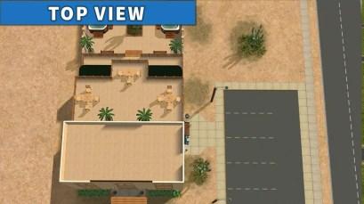 Sims 2 Strangetown Restaurant Bar TOP VIEW