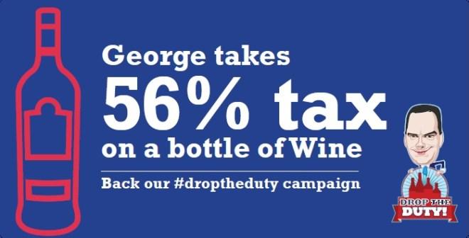 56% tax on Wine