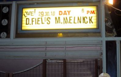 A marquee over the door of the museum announces the premier of the show, which included rare live appearances by Danny Fields and Monte Melnick, two people whose work with the Ramones was—until this night—happening totally offstage.