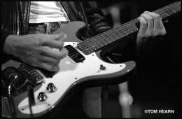 Johnny Ramone's Blue Mosrite. Photo © by Tom Hearn