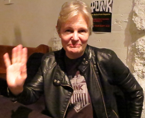 Mary Harron at The Punk Magazine book launch party in Brooklyn.