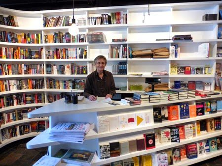 Terry McCoy working hard at the St. Mark's books