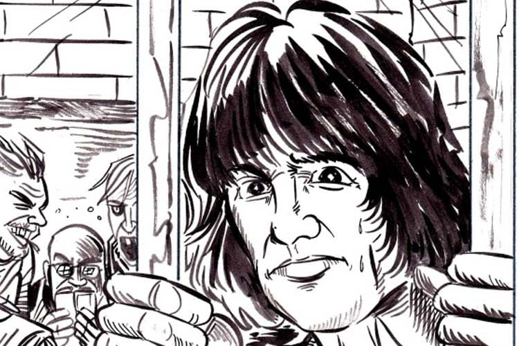 Dee Dee Ramone drawing by Brian Walsby