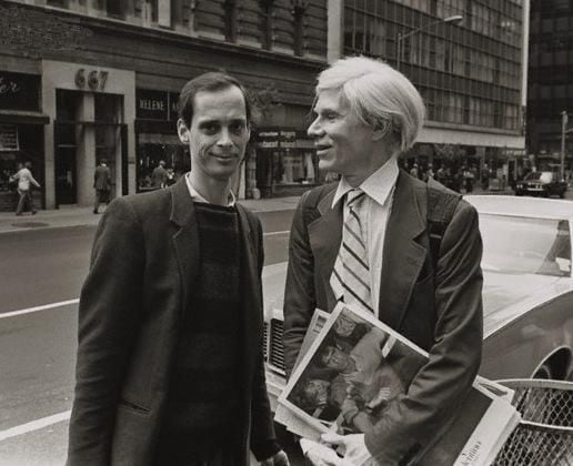 John Waters with Andy Warhol - Photo by Robert Levin