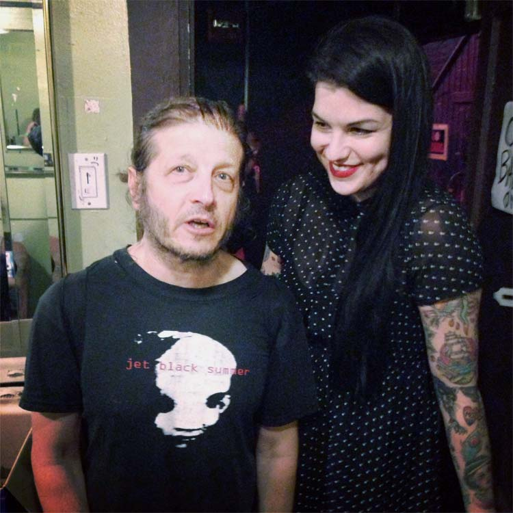 Keith Morris and Amy Haben after a Flag show at the Trocadero three years ago.