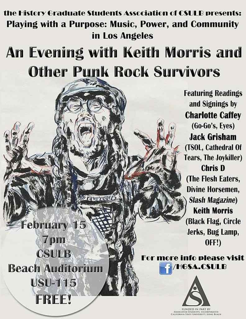 "poster for ""An Evening with Keith Morris"""