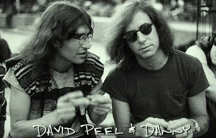 """Danny Says"" screenshot of David Peel and Danny Fields. Photo © by Anton Perich"