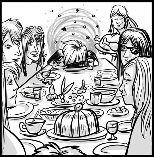Johnny Thunders Family Thanksgiving - by Ally Cat