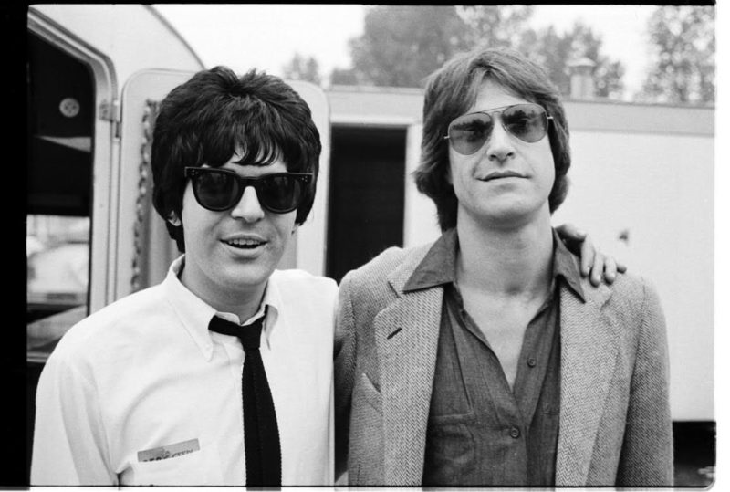 Clem Burke and Ray Davies - by Chris Stein