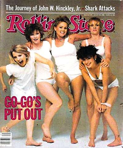 The Go-Go's on the cover of Rolling Stone