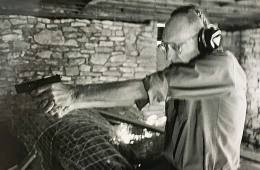 William Burroughs target shooting in Kansas - photo by © Jim Tynan