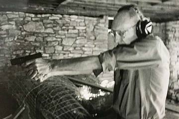William Burroughs target shooting in Kansas - photo by © Jim Tynan