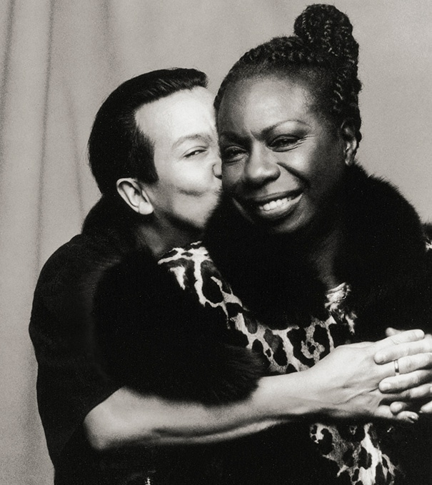 Michael Alago and Nina Simone 1993 ©by Carol Friedman