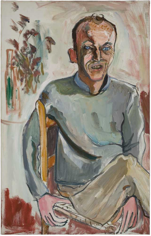 Frank O'Hara by Alice Neel