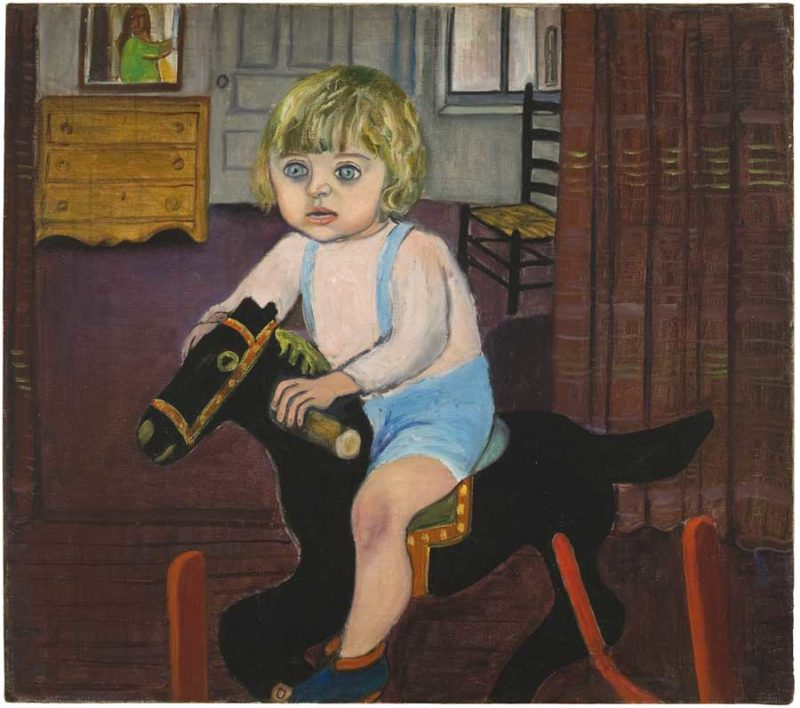 Hartley on the Rocking Horse - by Alice Neel