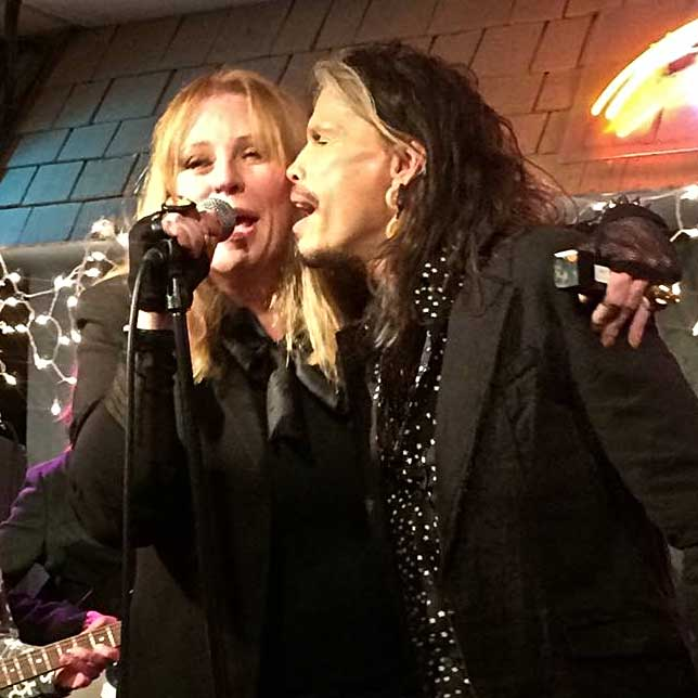 Bebe Buell singing with Stephen Tyler at The Bluebird in Nashville - Courtesy of Bebe Buell