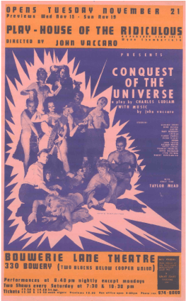 Conquest of the Universe promotional flyer