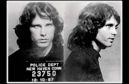 Jim Morrison's mugshot Dec 10, 1967 in New Haven, CT