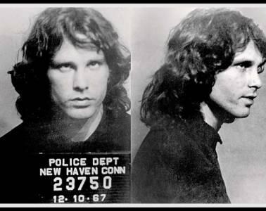 Jim Morrison's mugshot Dec 10, 1967 in New Haven, CT
