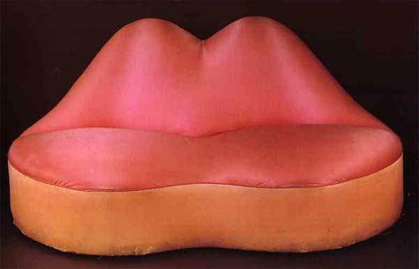Mae West Lips Sofa by Salvador Dali