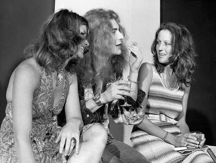 Germaine Greer and Robert Plant on set of GTK in 1973