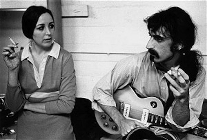Pauline Butcher Bird and Frank Zappa, backstage Anaheim June 15, 1968