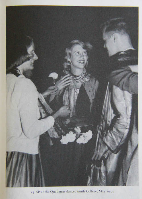Sylvia Plath at the Quadigras dance, Smith College, May 1954