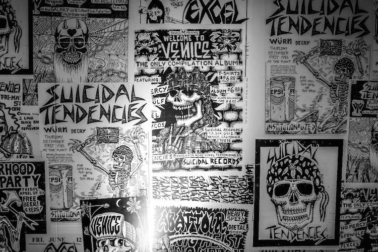 Old Suicidal Tendencies flyers, Photo by Rick Casados