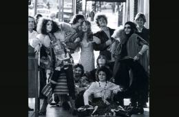 GTOs with the Flying Burrito Brothers in front of the Whisky - Photo by Julian Wasser, courtesy of Pamela Des Barres
