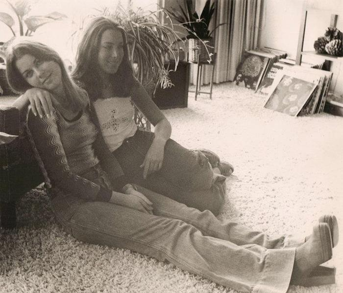 Morgana and Carol Sherman, photo from the collection of Morgana Welch