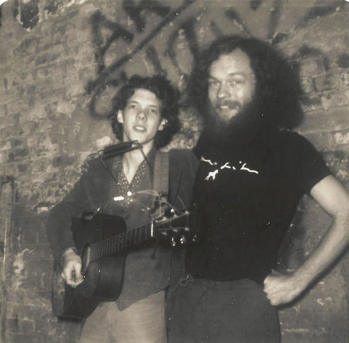 Steve Forbet with CBGB soundman Charlie Martin.