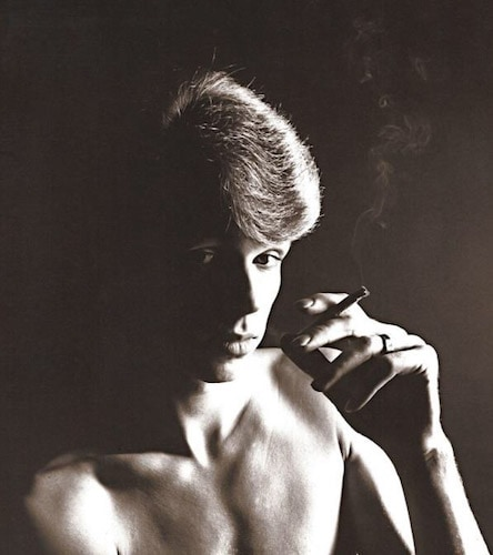 """Freddie Buretti, David Bowie's costume designer during the Ziggy days. Freddie supplemented his income as a """"Dilly Boy"""" working Piccadilly Circus in the late 60's/early 70's. L.B.C"""