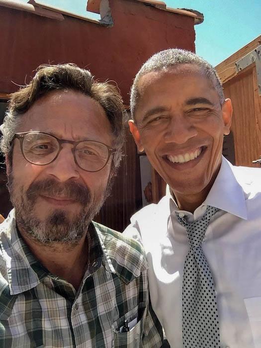 Marc Maron and Barack Obama